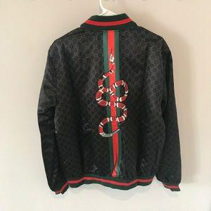 Gucci XXL Black Snake Windbreaker Jacket